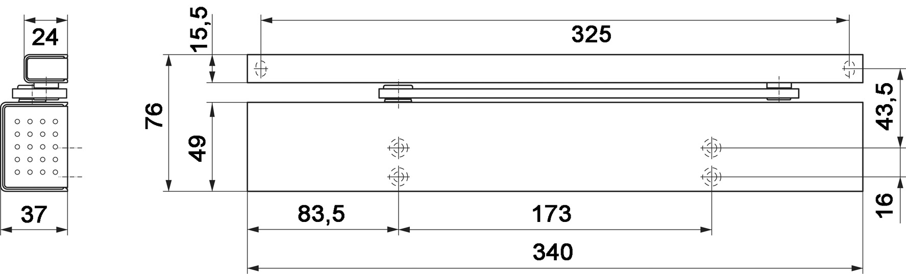 Ferme-porte DORMA TS 97 design Contur