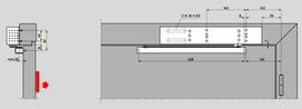 Ferme-porte débrayable DORMA TS 99 FL design Contur