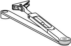 Bracci a forma piatta per DORMA TS 72