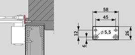 Scharnierplatte zu DORMA TS 73 V / TS 83