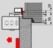 Plaques de montage pour glissières DORMA PORTEO