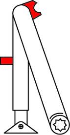 Bras d'arrêt à crans d'arrêt pour DORMA TS 73 V / 83