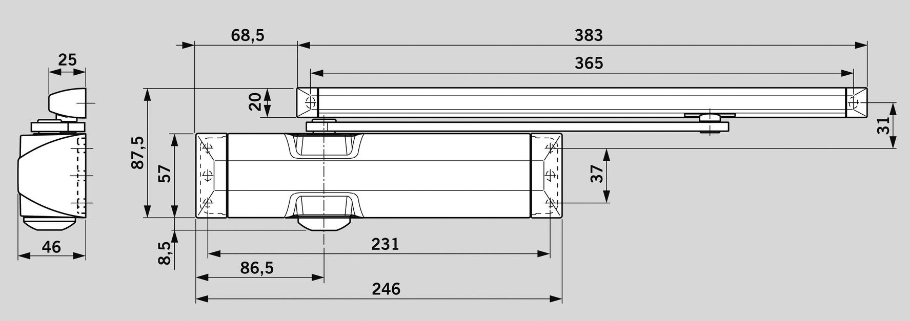 Ferme-porte DORMA TS 90 Impulse