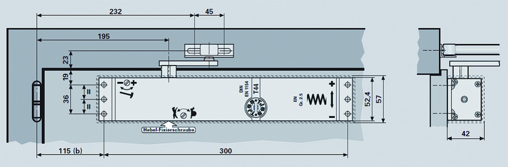 Ferme-porte TJSS T 44