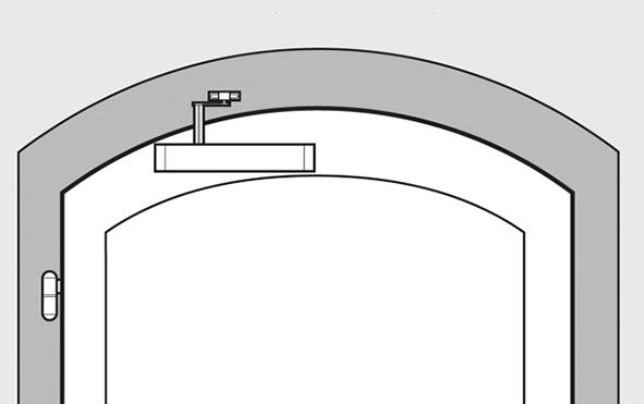 Chiudiporta TJSS T 44B per porte ad arco circolare