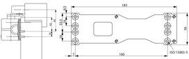 Placche di montaggio ASSA ABLOY A120 per chiudiporta AC 700