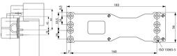 Montageplatte ASSA ABLOY A120 zu Türschliesser AC 700