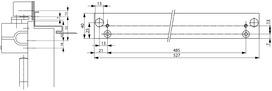 Placche di montaggio ASSA ABLOY A 132 per guide di scorrimento G-S