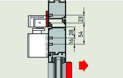 Placche di montaggio 40 mm per guide di scorrimento G-N XEA