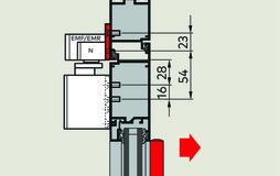 Plaques de montage 40 mm pour glissières G-EMR XEA