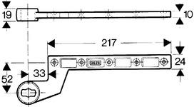 Türschienen GEZE Modell DB für Anschlagtüren