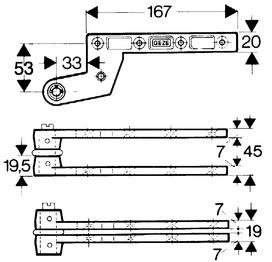 Pivots GEZE modèle DB pour portes à simple action
