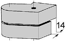 Abdeckkappen DORMA für Zapfenbänder 66.131.51-52
