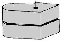Capuchons de recouvrement DORMA pour pivots du haut 66.131.61