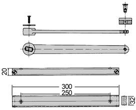 Schwinghebel zu DORMA BTS für Türen mit tragenden Bändern