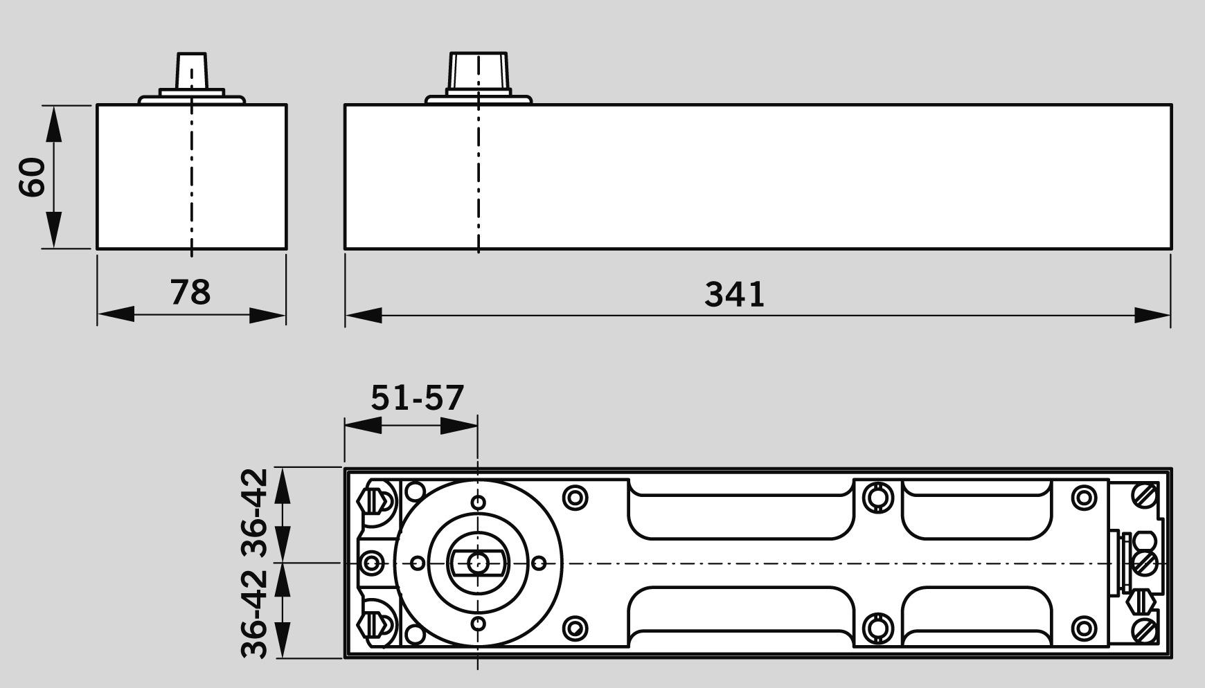 Chiudiporta a pavimento DORMA BTS 80