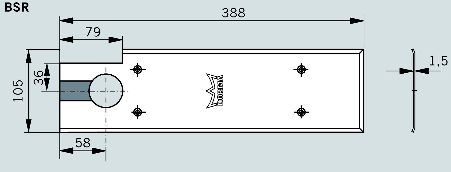 Plaques de recouvrement pour DORMA BSR