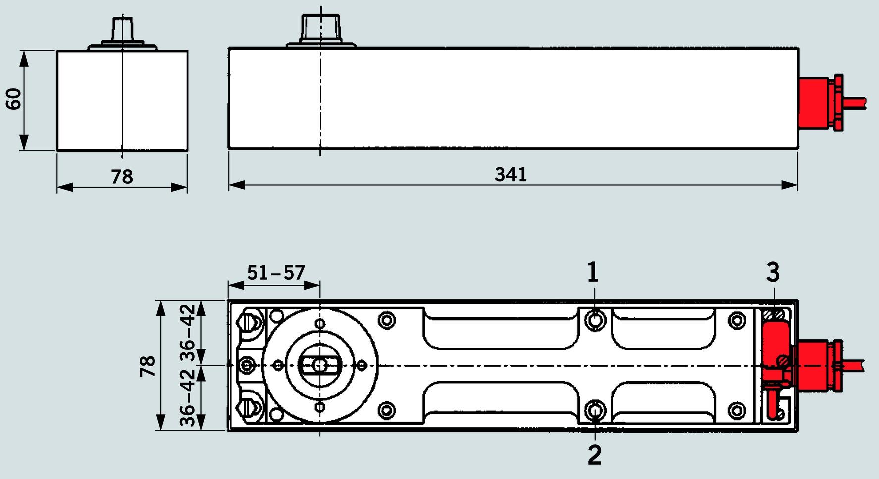 Chiudiporta a pavimento DORMA BTS 80 EMB