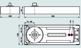 Bodentürschliesser DORMA BTS 84