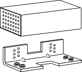 befestigungseinheit f r fl chenb ndige t ren dorma tv z 1xx. Black Bedroom Furniture Sets. Home Design Ideas