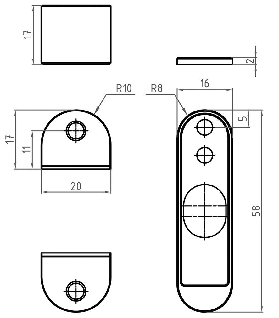 Accessoire de montage pour l'utilisation dans le bois 1188M