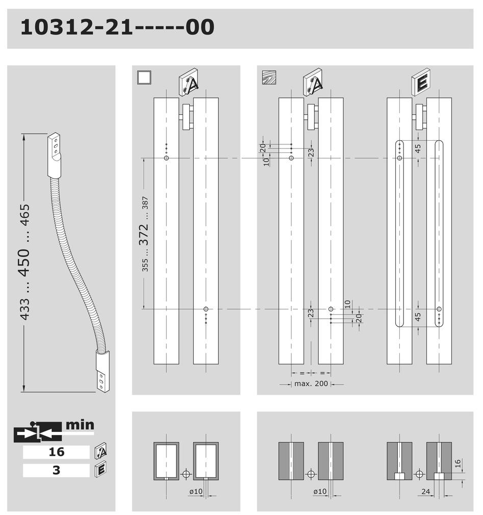 Passages de câbles EFF-EFF 10314