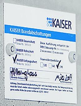 Schott-Kennzeichnungsschild