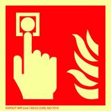 Symboles de protection contre l'incendie à longue photoluminescence