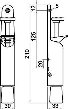 Türfeststeller KWS 1032