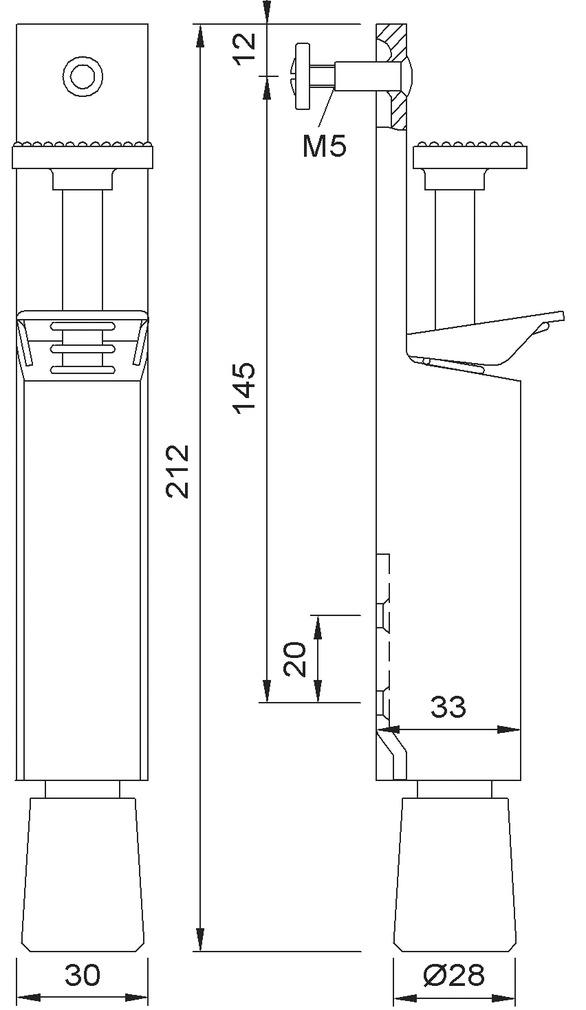 Türfeststeller KWS 1081/1082