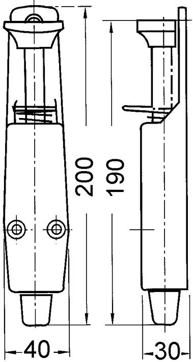 Türfeststeller Typ 90