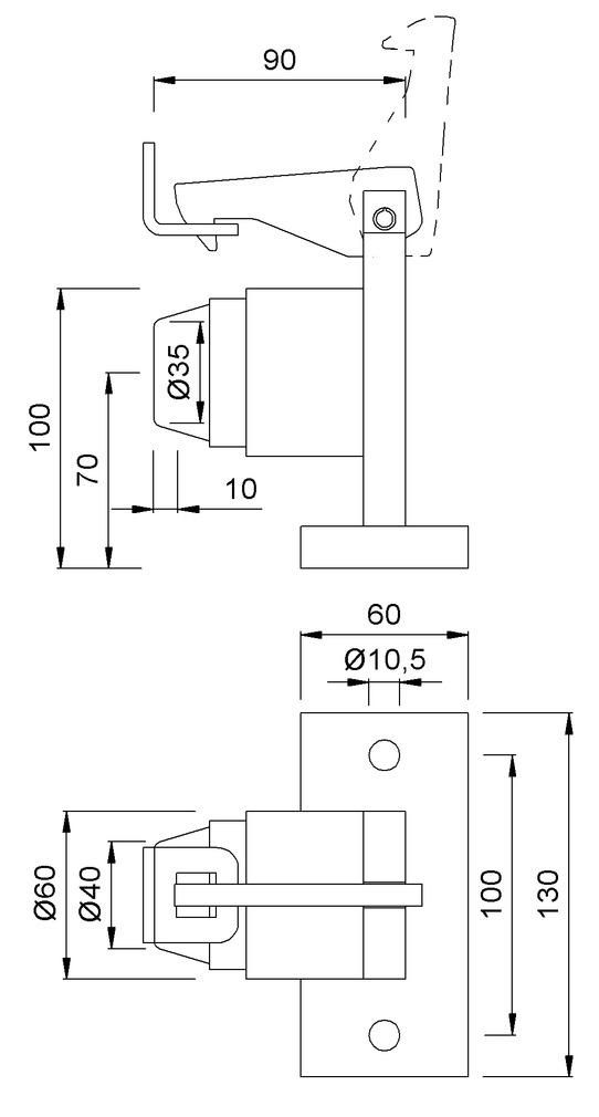 Türfeststeller KWS 1121