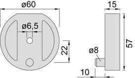 Plaques de distances pour butoirs de porte KWS 2003