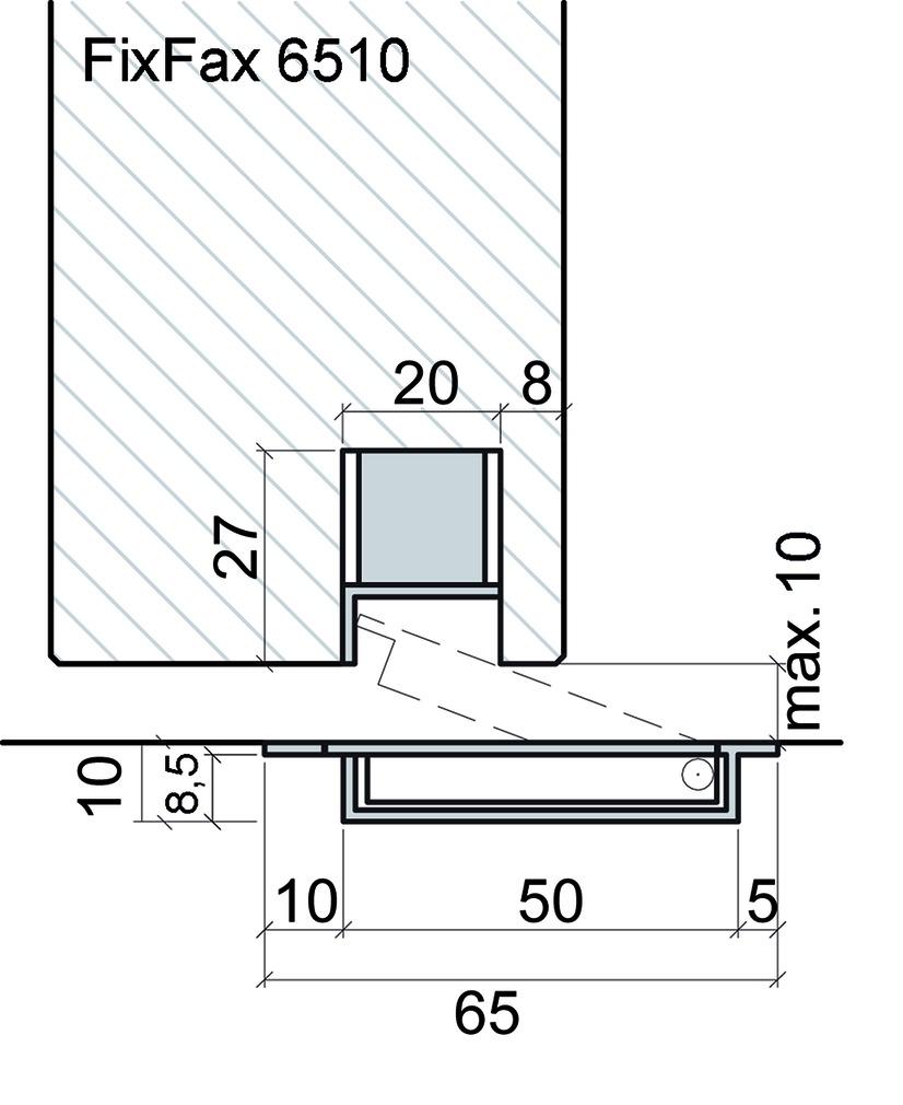 Bodentürpuffer FixFax 6510