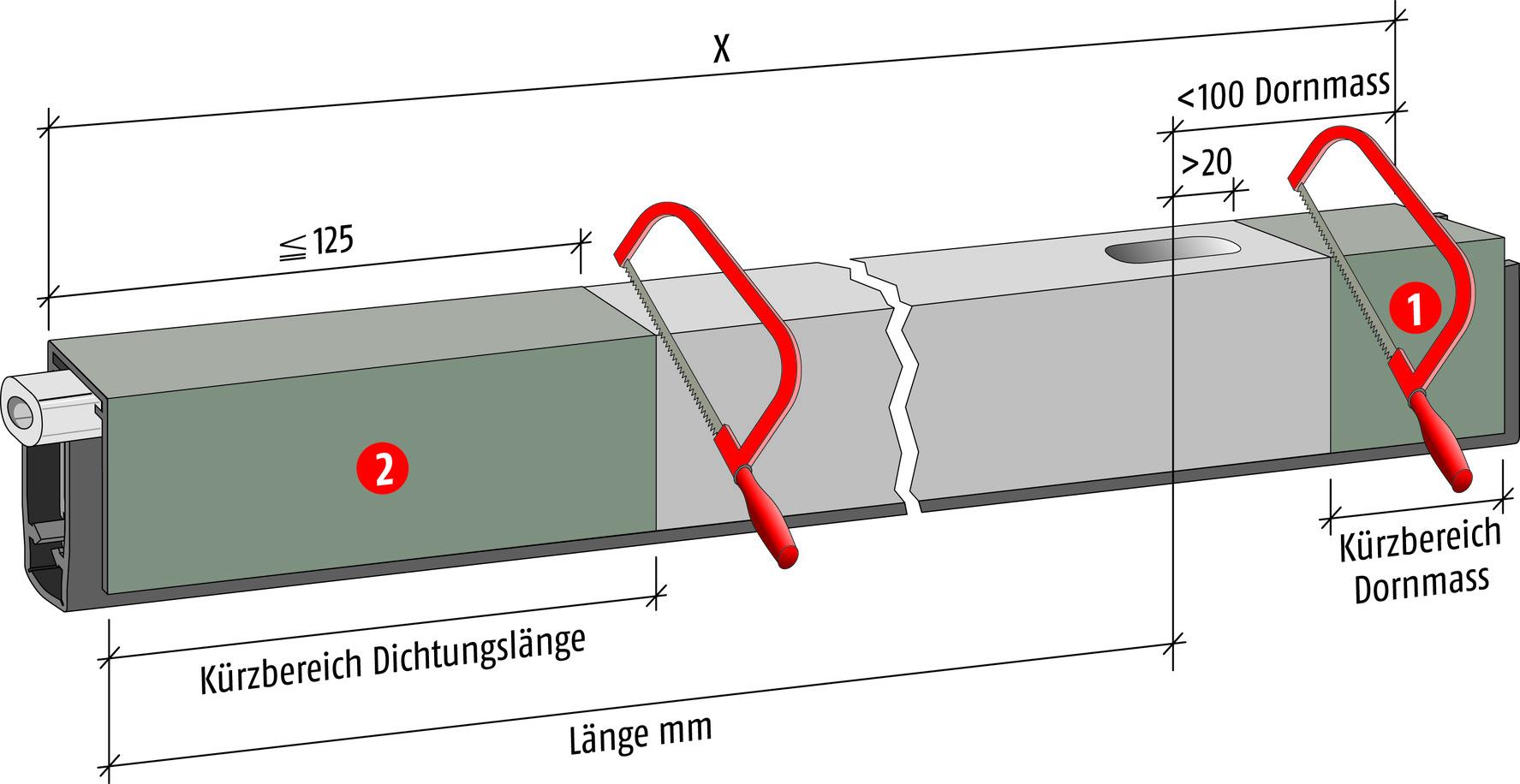 Türabschlüsse PLANET HS TR 125 Doppelkürzen