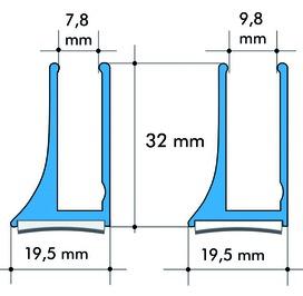 Profili per vetro ALUMAT GT 8 / GT 10