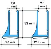 Profils pour verre ALUMAT GT 8 / GT 10