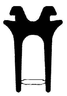 Profil d'étanchéité à double lèvres HEBGO 655
