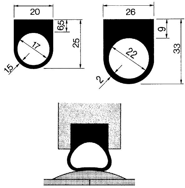 Joints pour seuils de portes FERMA
