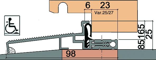Joints pour seuils de portes HEBGO 162