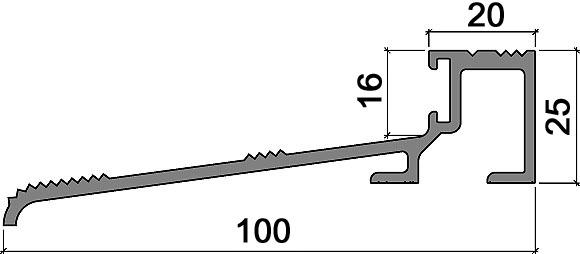 Profils de seuil HEBGO 165