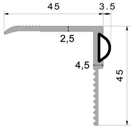 Profils de rénovation de porte ALUMAT avec joint en silicone