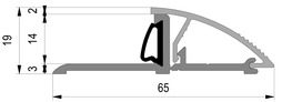 Profils de seuils de portes ALUMAT avec joint