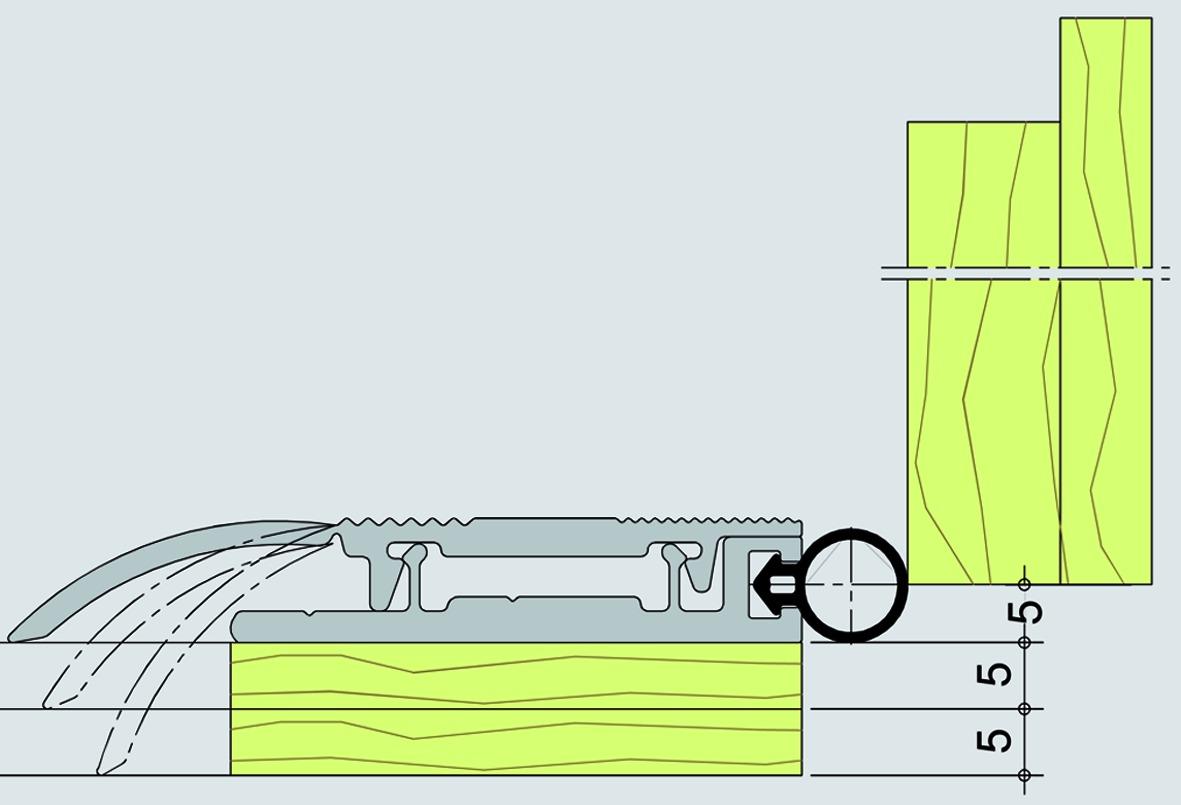 Seuil de séparation universel ALUMAT avec joint en silicone
