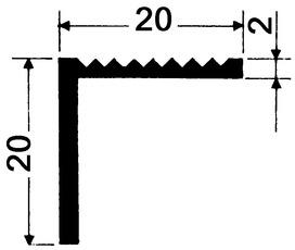 Profilo angolare per scale