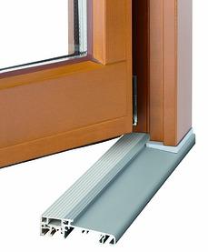 Soglia da pavimento GU integrata per porte d'entrata in legno