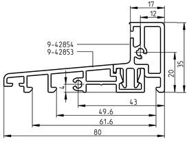 Soglia da pavimento integrata per porte d'entrata in legno apribili verso l'esterno
