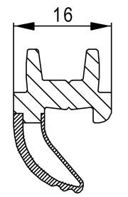 Etanchéité supplémentaire de vantail HZD 16 / HZD 20