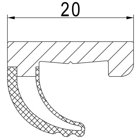 Guarnizione supplementare per anta HZD 16 / HZD 20