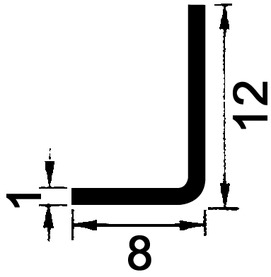 Profilo angolare in acciaio